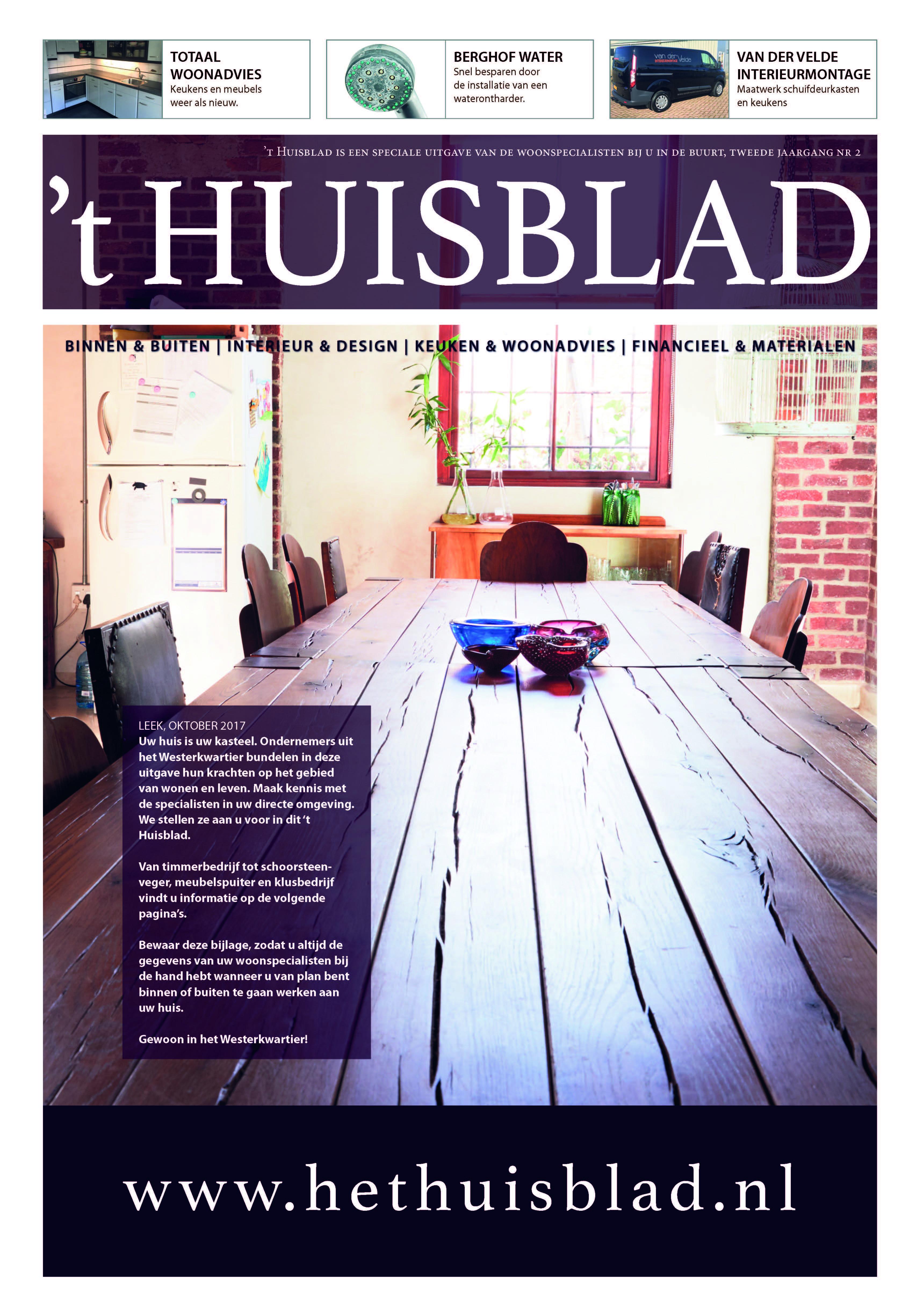 't Huisblad oktober 2017 - pagina 1