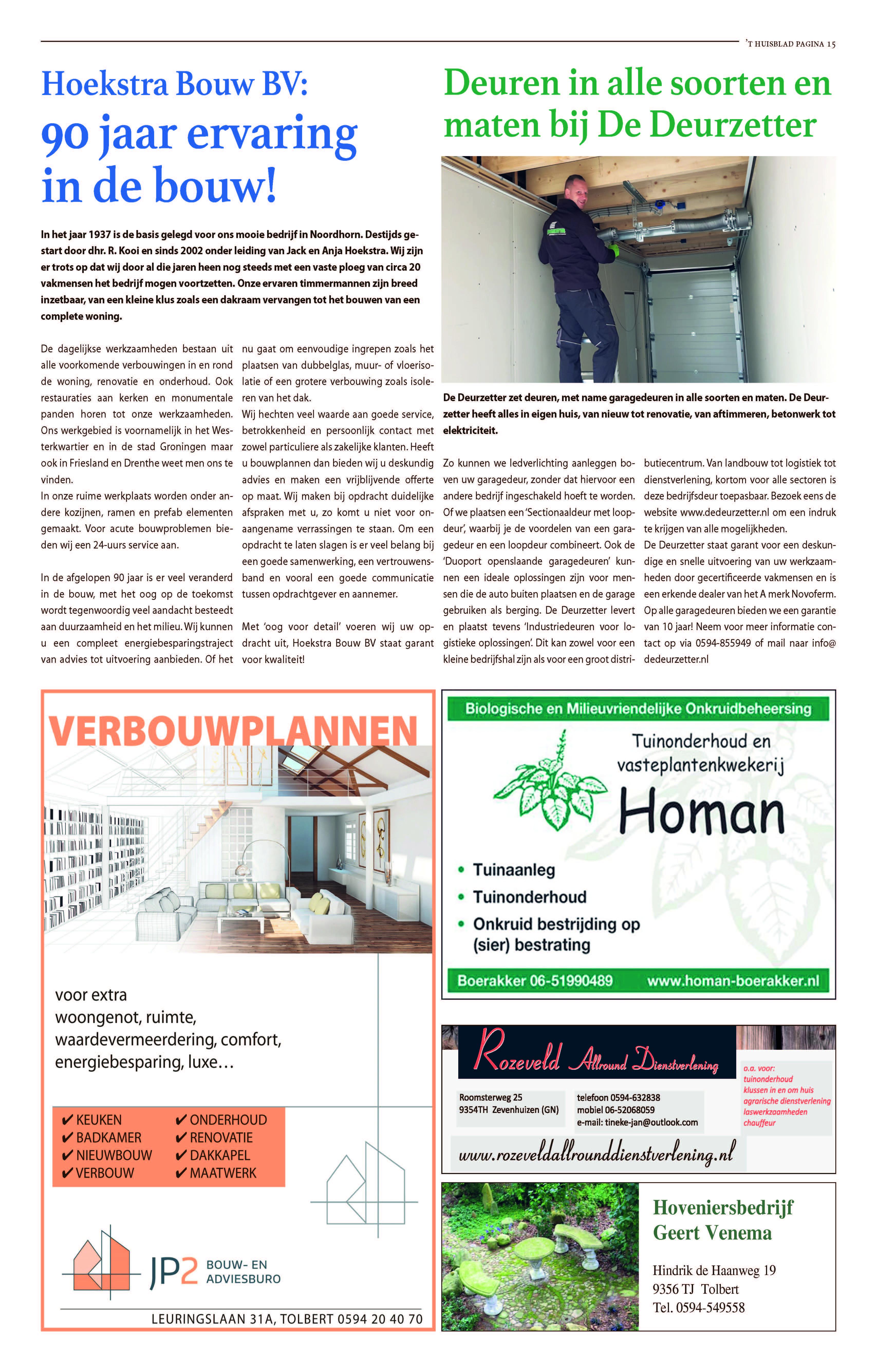 't Huisblad oktober 2017 - pagina 15